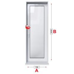 Алуминиева балконска врата Etem E 40 термо едноосово отваряне