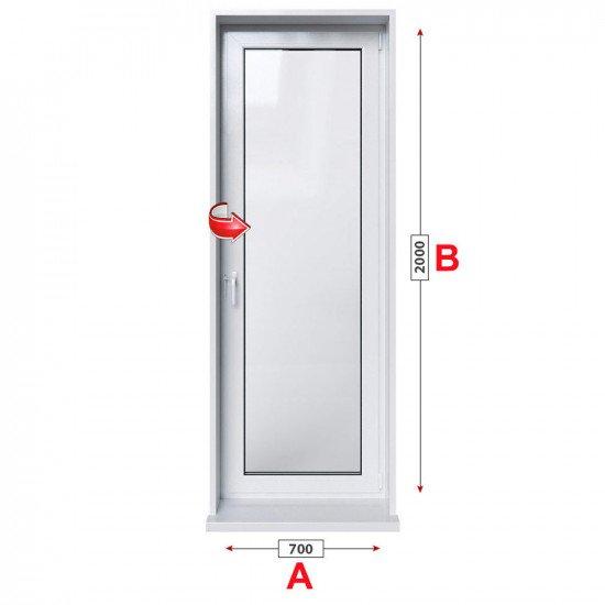 Алуминиева врата за баня Alumil M 940 студен профил