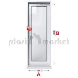 Алуминиева врата за баня Lorenzoline 58C студен профил