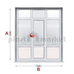 Алуминиева врата Alumil - 300/330см