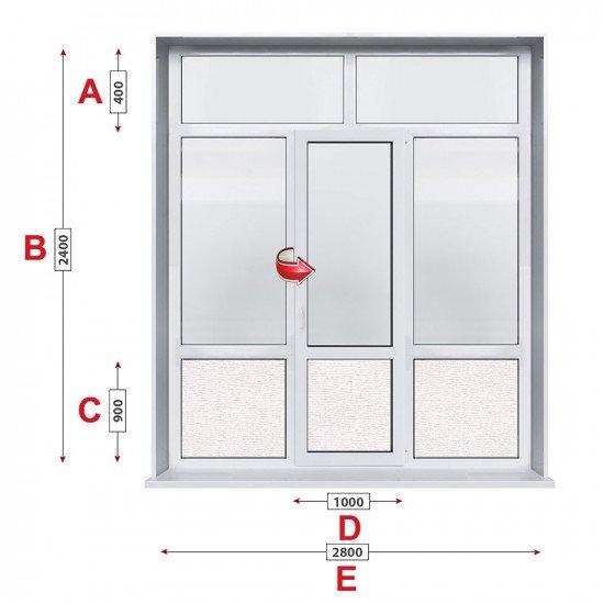 Алуминиева врата Lorenzoline - 280 / 240 см