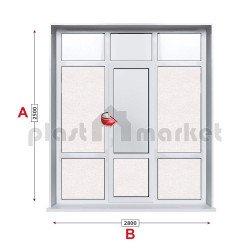 Алуминиева врата Etem E1000 - 280/250см