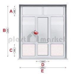 Алуминиева врата Alumil - 280 / 240 см