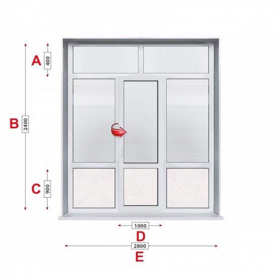 Алуминиева врата Altest - 280 / 240 см