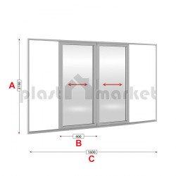 Алуминиева врата Altest 2000 Sliding студен профил 160/210см