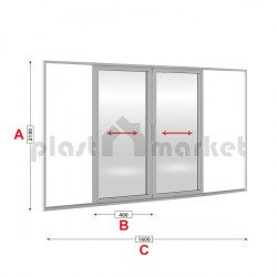 Алуминиева врата Lorenzoline студен профил 160/210 см
