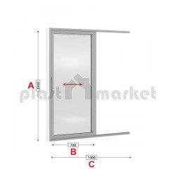 Алуминиева врата Altest 2000 Sliding студен профил 140/200см