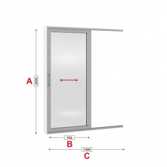 Алуминиева врата Alumil M 900 студен профил 140/200см