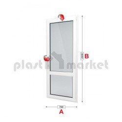 Балконска врата Aluplast Ideal 4000 - 70 мм с двуосово отваряне