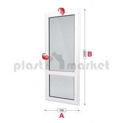 Балконска врата Baufen Ultima 70 - 70 мм с двуосов механизъм