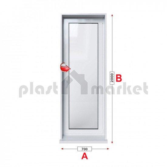 Балконска врата KBE Eco 70 мм с едноосов механизъм