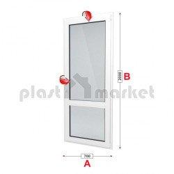 Балконска врата Kommerling 76 mm с двуосов механизъм