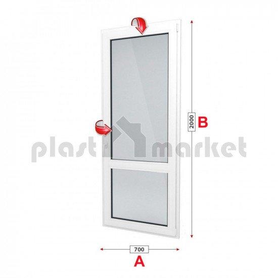 Балконска врата Kommerling 76 мм с двуосов механизъм