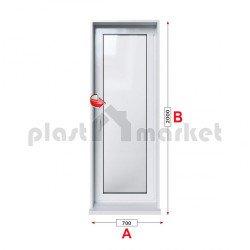 Балконска врата Kommerling 76 mm с едноосов механизъм