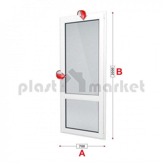 Балконска врата Profilink Classic 4 - 60 мм с двуосов механизъм