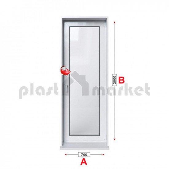 Балконска врата Profilink Classic 4 - 60 мм с едноосов механизъм 70/200см
