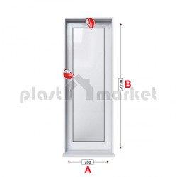 Балконска врата Profilink Premium 5 - 70 мм с двуосов механизъм 70/200см