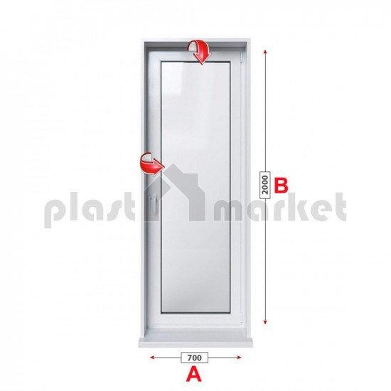 Балконска врата Rehau Euro-Design 86 plus - 86 мм с двуосов механизъм