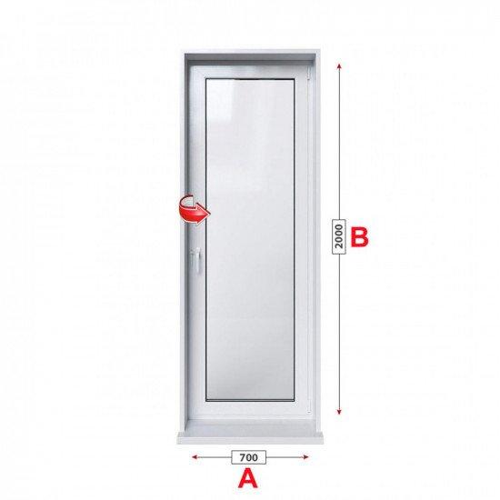 Балконска врата Rehau GENEO с едноосов механизъм