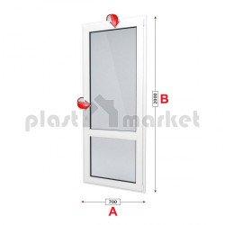 Балконска врата Trocal Classic 76 mm с двуосов механизъм