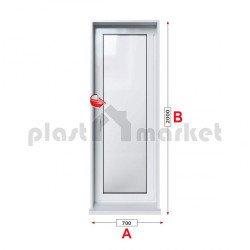 Балконска врата Trocal Classic 76 mm с едноосов механизъм