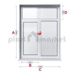 Кухненски прозорец  Trocal ECONOMY – 70MM двоен с едно крило