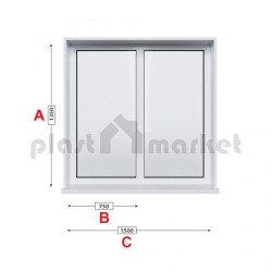 Кухненски прозорец двоен Trocal ECONOMY – 70 мм