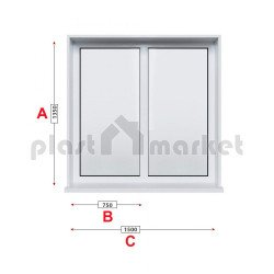 Кухненски прозорец двоен Trocal PRESTIGE 88+ /88 MM/