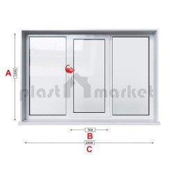 Кухненски прозорец троен Trocal ECONOMY – 70MM с едно крило