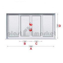 Прозорец за хол Trocal ECONOMY – 70 мм с две крила