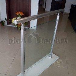Алуминиев парапет със стъклен пълнеж