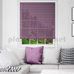 Хоризонтална щора пред стъкло BlackOut с ламели 25 мм цветни, металик