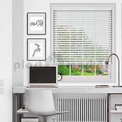 Хоризонтална щора Макси Стандарт с ламели 25 мм цвят бял