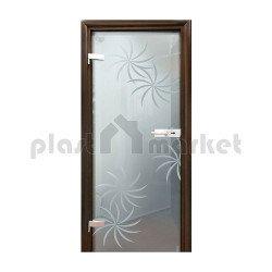 Стъклена интериорна врата 004