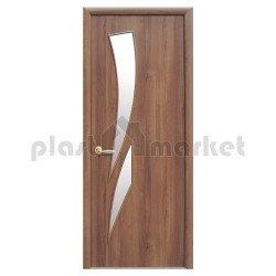 Интериорна врата със стъкло Стил Камелия – цвят Златна елха