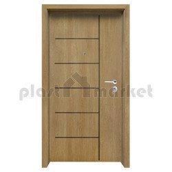 Блиндирана входна врата с фрезовка - вариант 2.1, цвят Fiamato