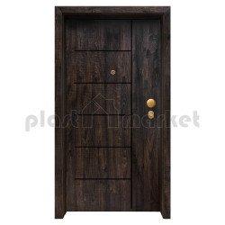 Блиндирана входна врата с фрезовка - вариант 2.1, цвят Greenwach