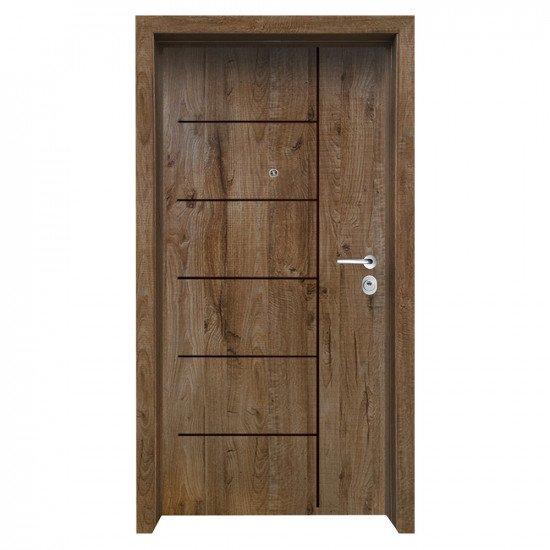 Блиндирана входна врата с фрезовка - вариант 2.1, цвят James
