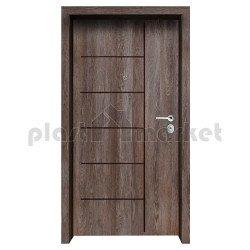 Блиндирана входна врата с фрезовка - вариант 2.1, цвят Kaneto