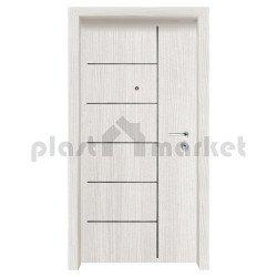 Блиндирана входна врата с фрезовка - вариант 2.1, цвят Leyko Spazzolato