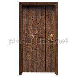 Блиндирана входна врата с фрезовка - вариант 2.1, цвят Poyro